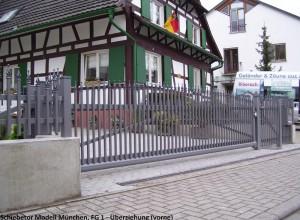 T-freitragendes Schiebetor-München-9007-Überziehunghp